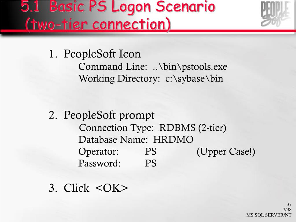 5.1  Basic PS Logon Scenario