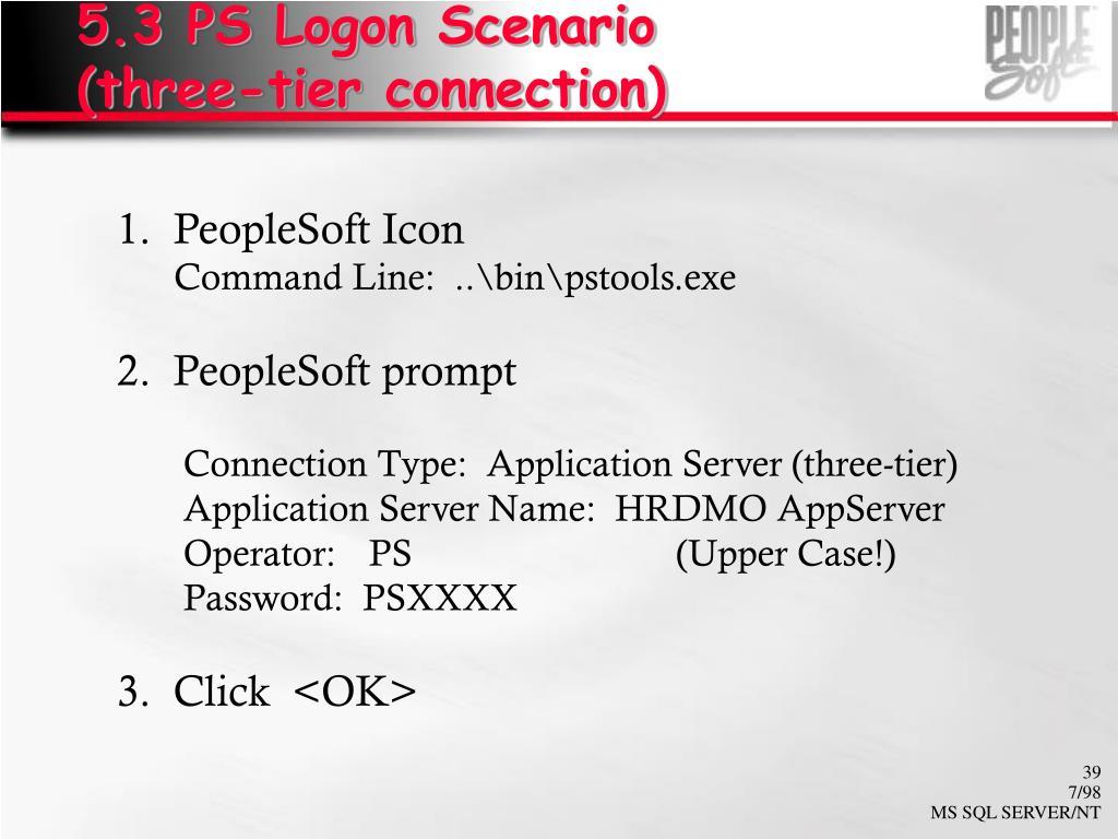 5.3 PS Logon Scenario