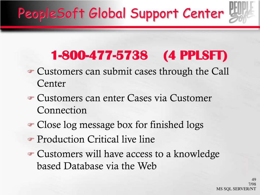 PeopleSoft Global Support Center