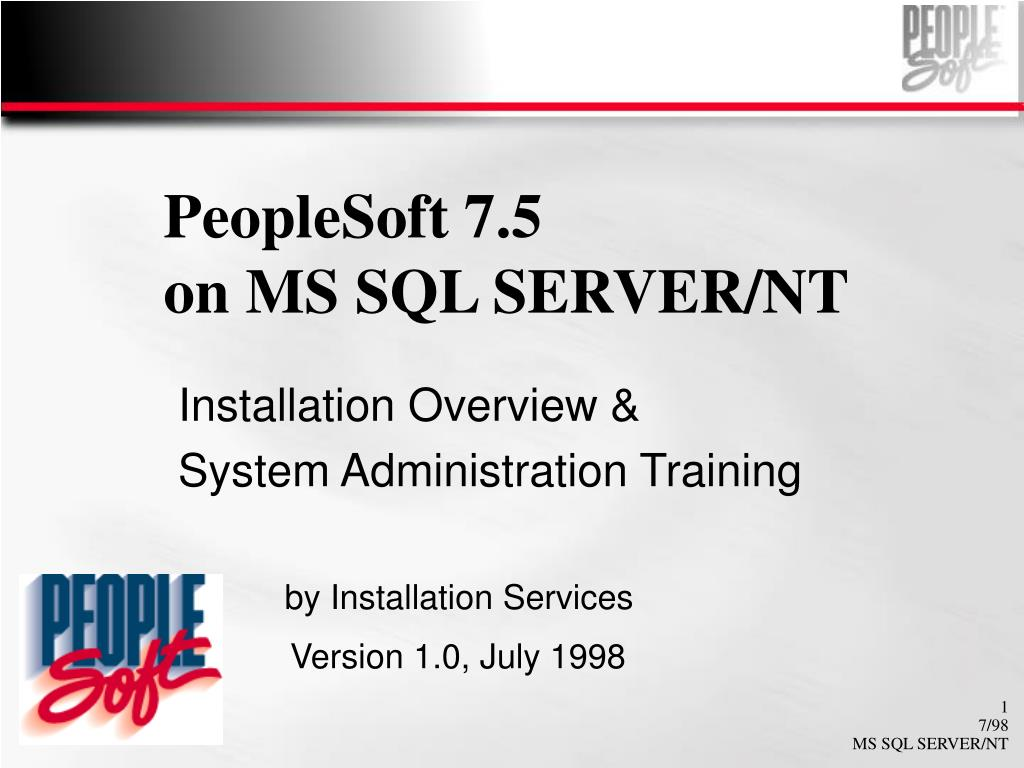 PeopleSoft 7.5