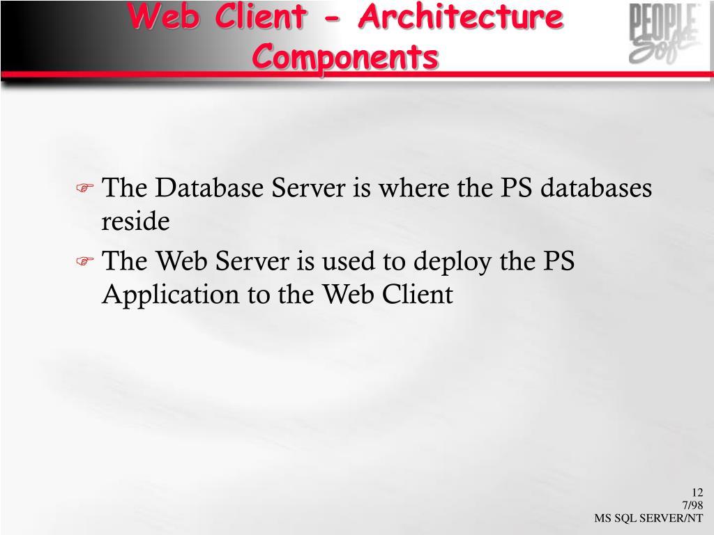 Web Client - Architecture Components