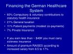 financing the german healthcare system