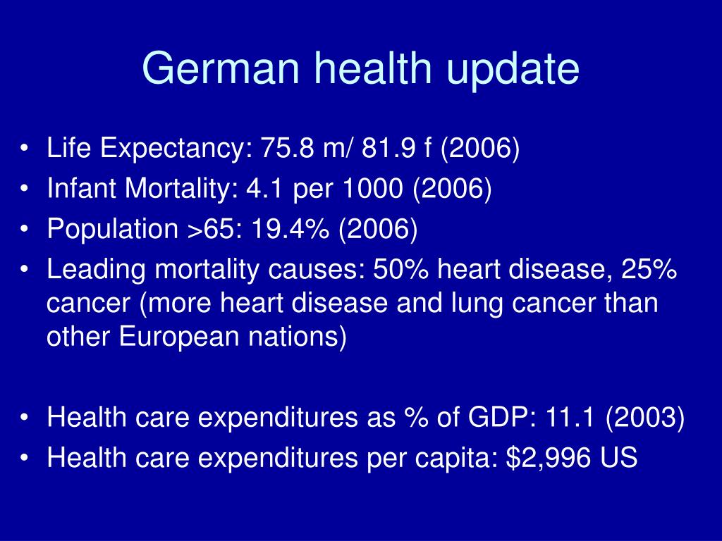 German health update