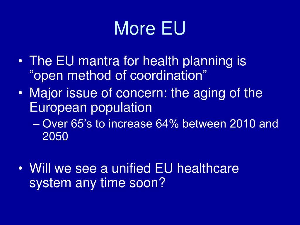 More EU