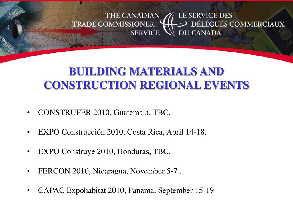 BUILDING MATERIALS AND CONSTRUCTION REGIONAL EVENTS