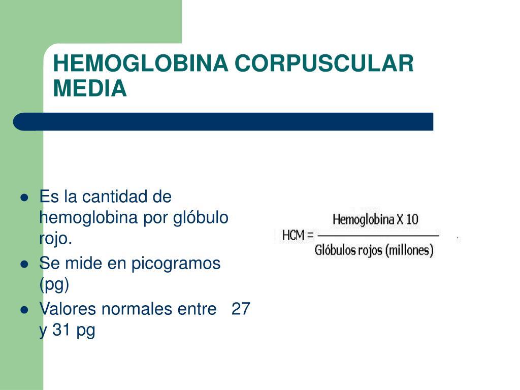 HEMOGLOBINA CORPUSCULAR MEDIA