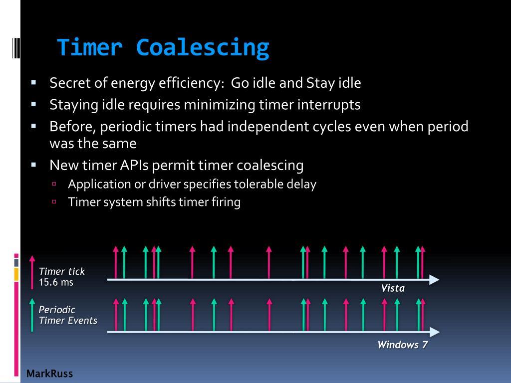 Timer Coalescing