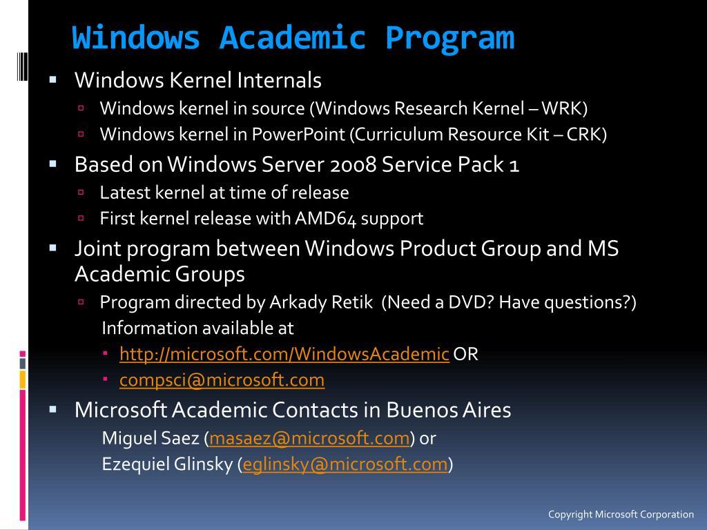 Windows Academic Program