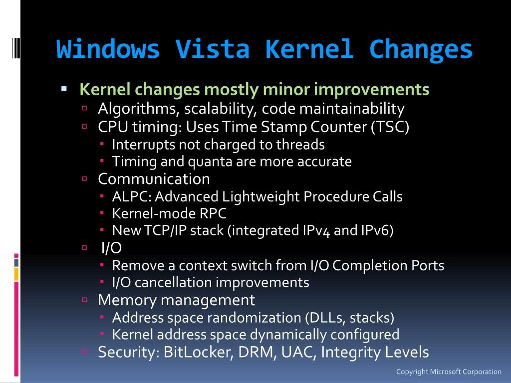 Windows Vista Kernel Changes