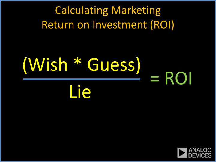 Calculating marketing return on investment roi