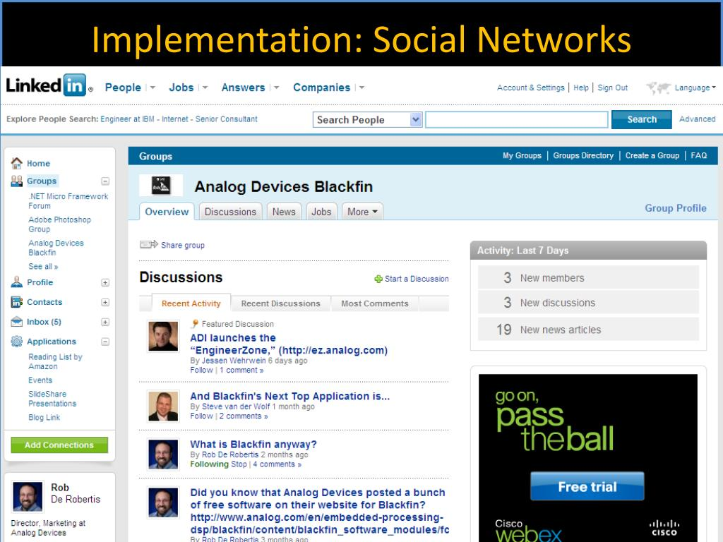 Implementation: Social Networks