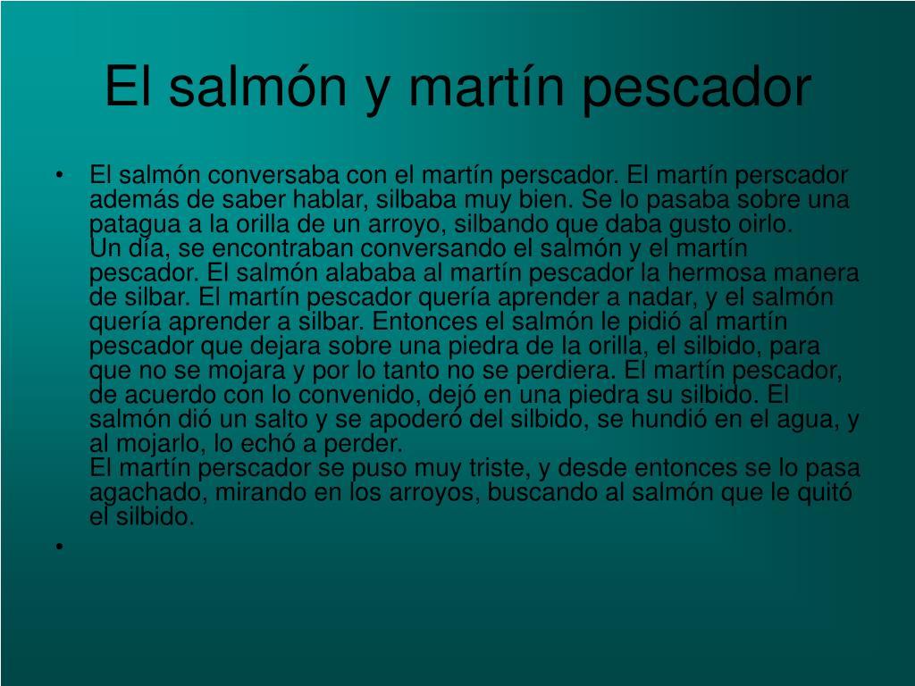 El salmón y martín pescador