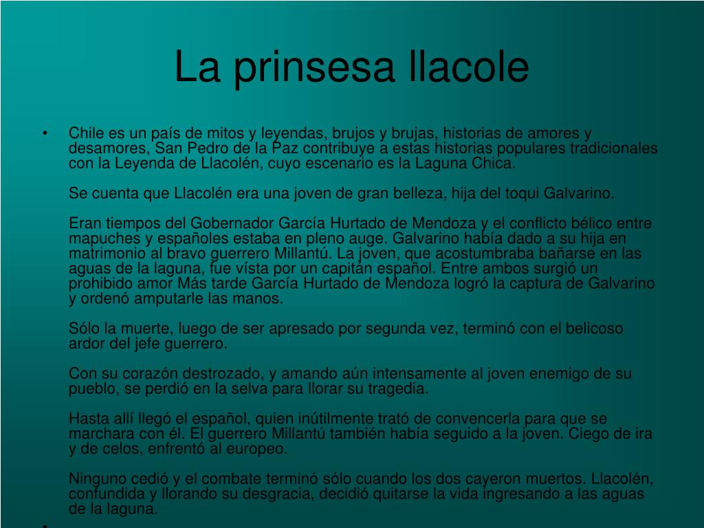 La prinsesa llacole