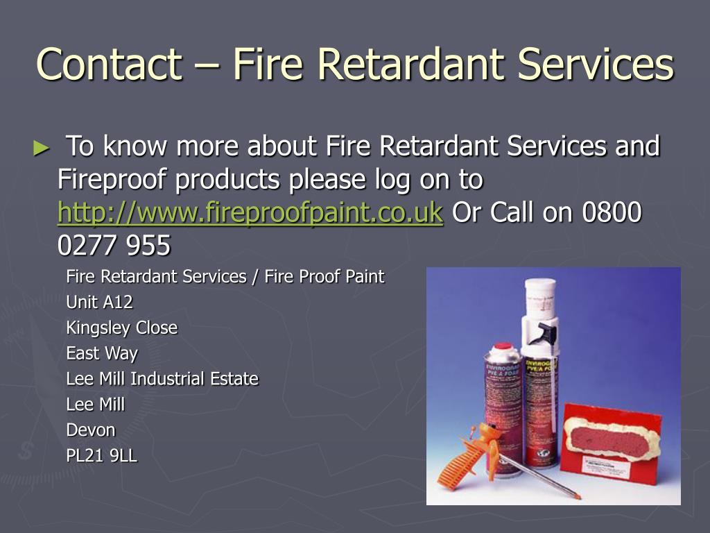Contact – Fire Retardant Services
