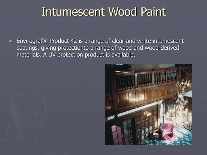 Intumescent wood paint
