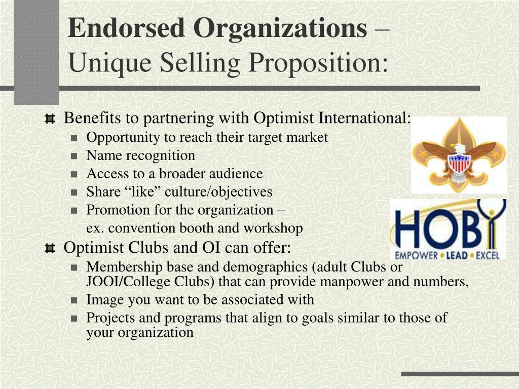 Benefits to partnering with Optimist International: