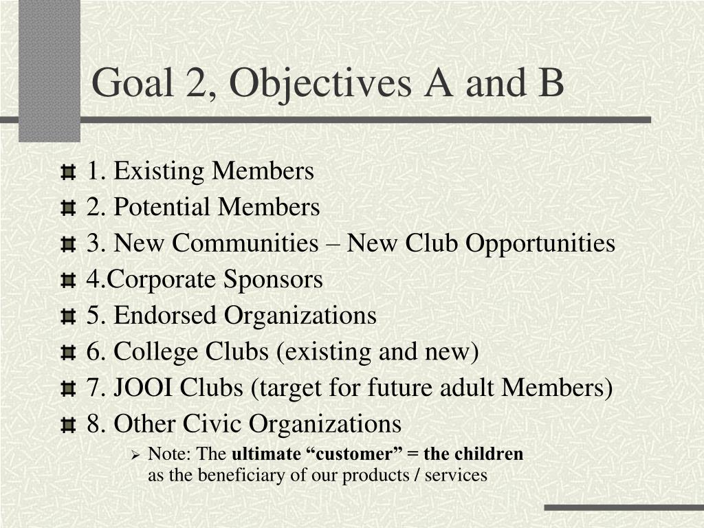 Goal 2, Objectives A and B