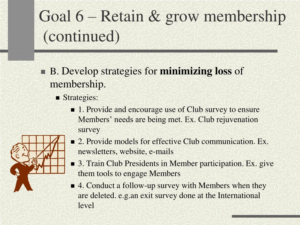 Goal 6 – Retain & grow membership