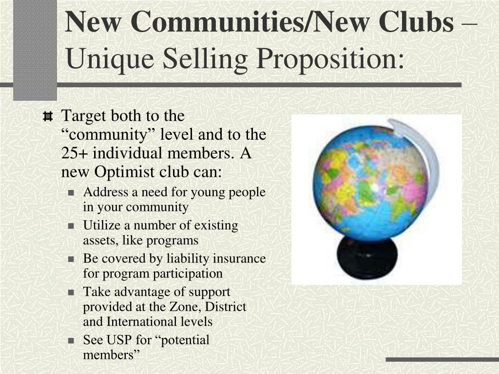 New Communities/New Clubs