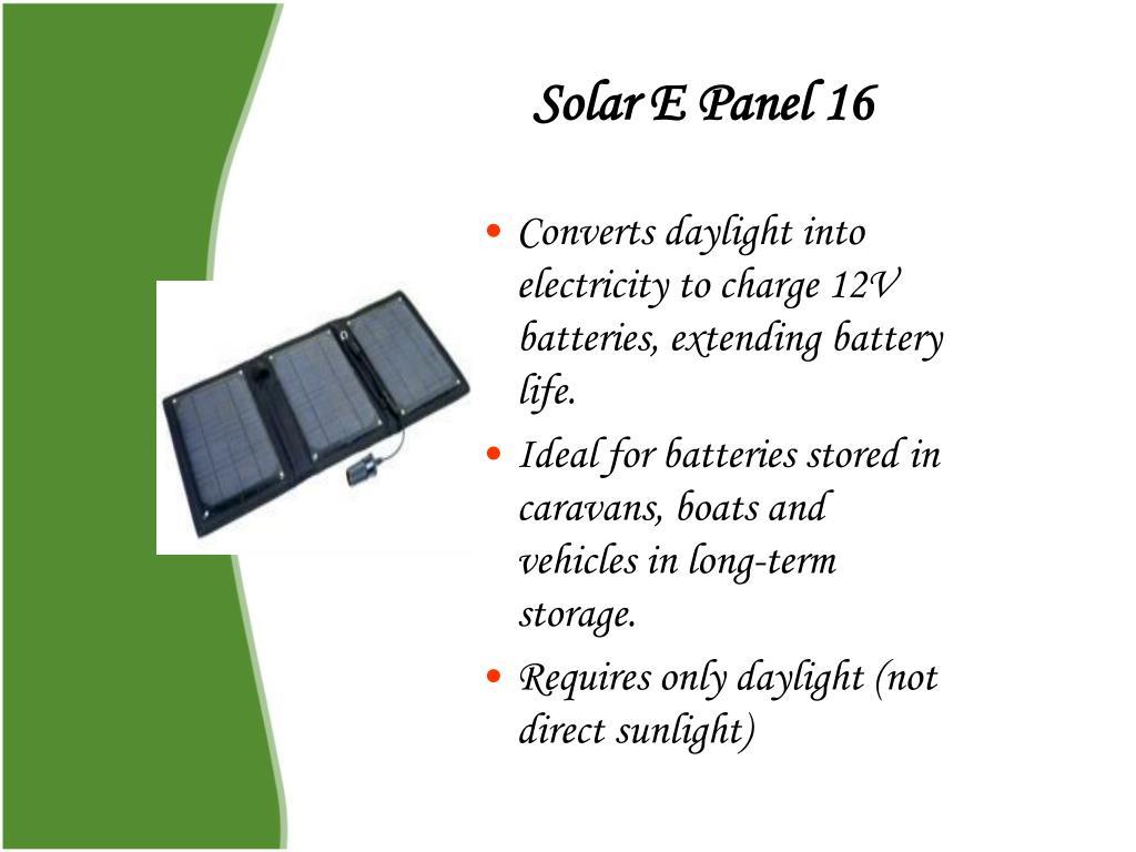 Solar E Panel 16
