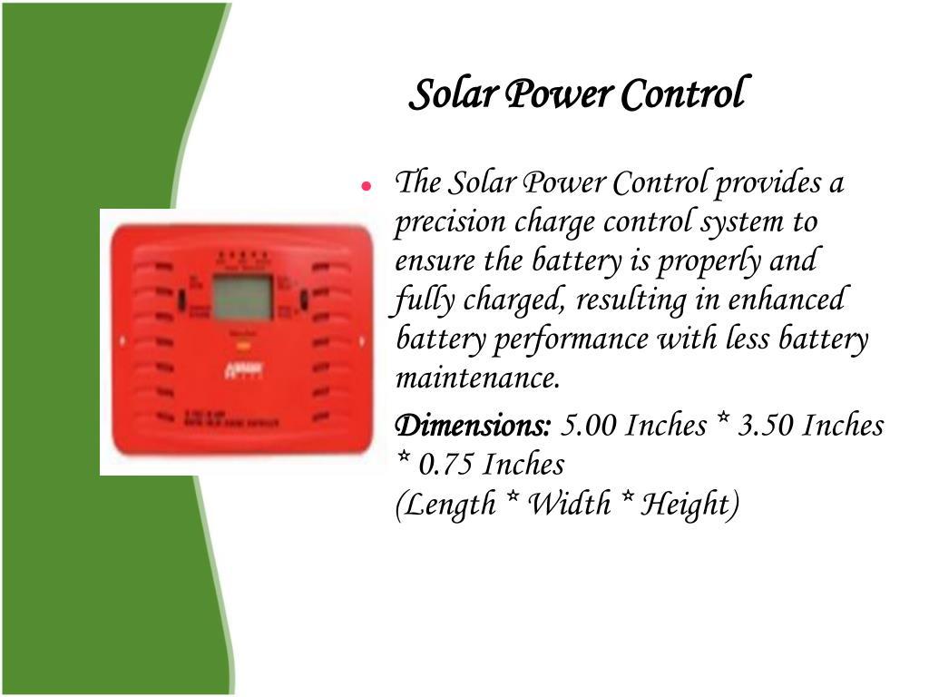 Solar Power Control