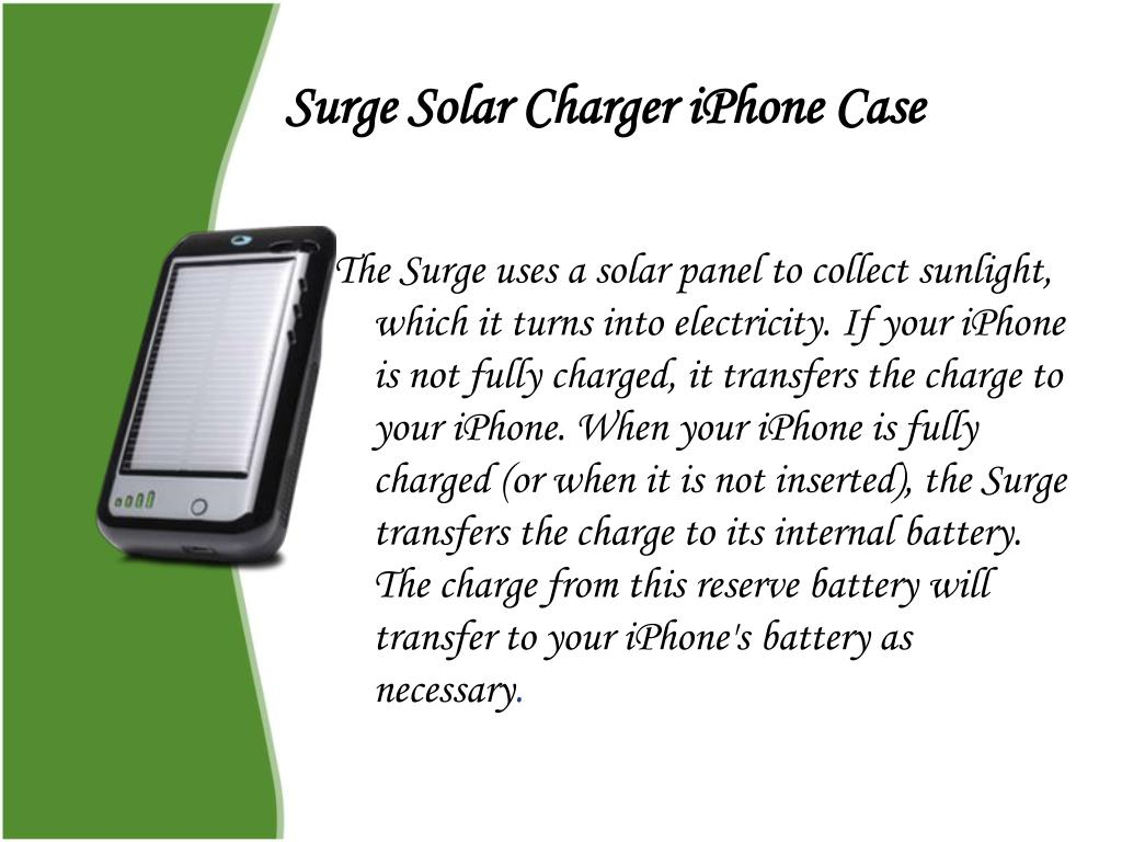Surge Solar Charger iPhone Case