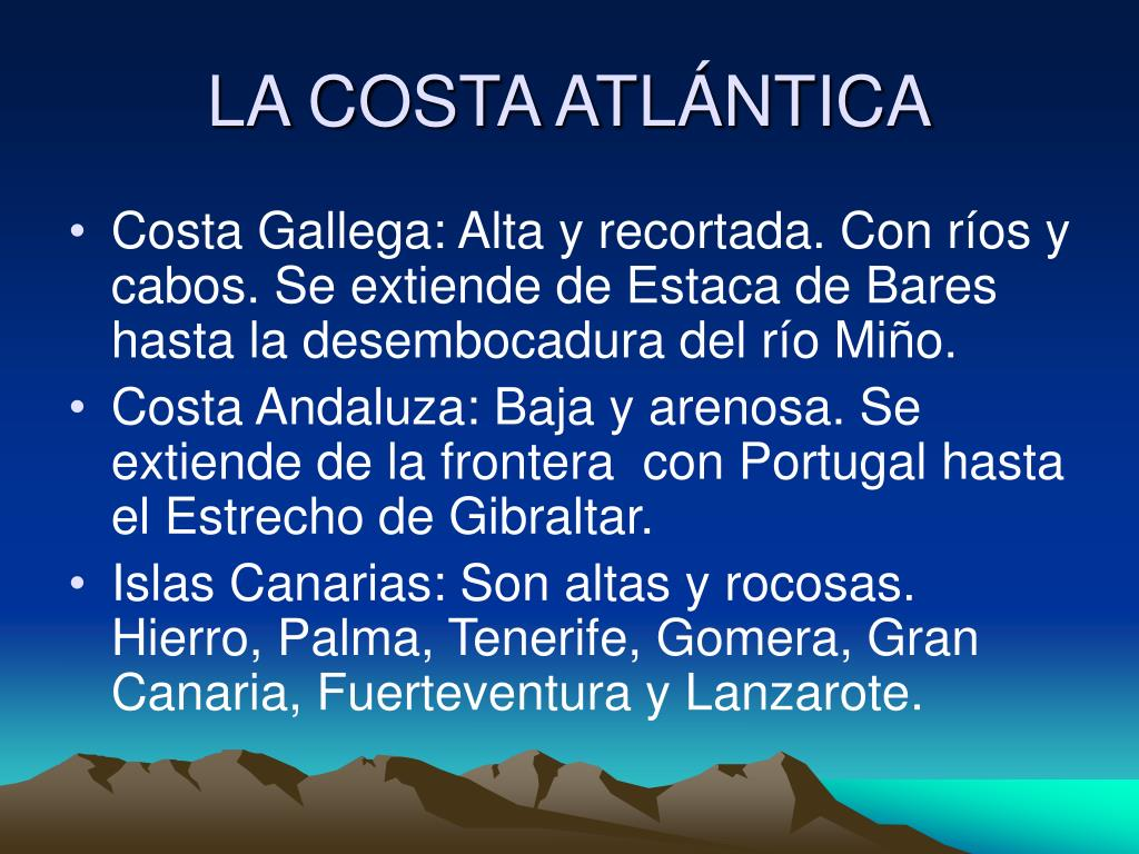 LA COSTA ATLÁNTICA