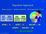 equation approach
