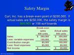 safety margin