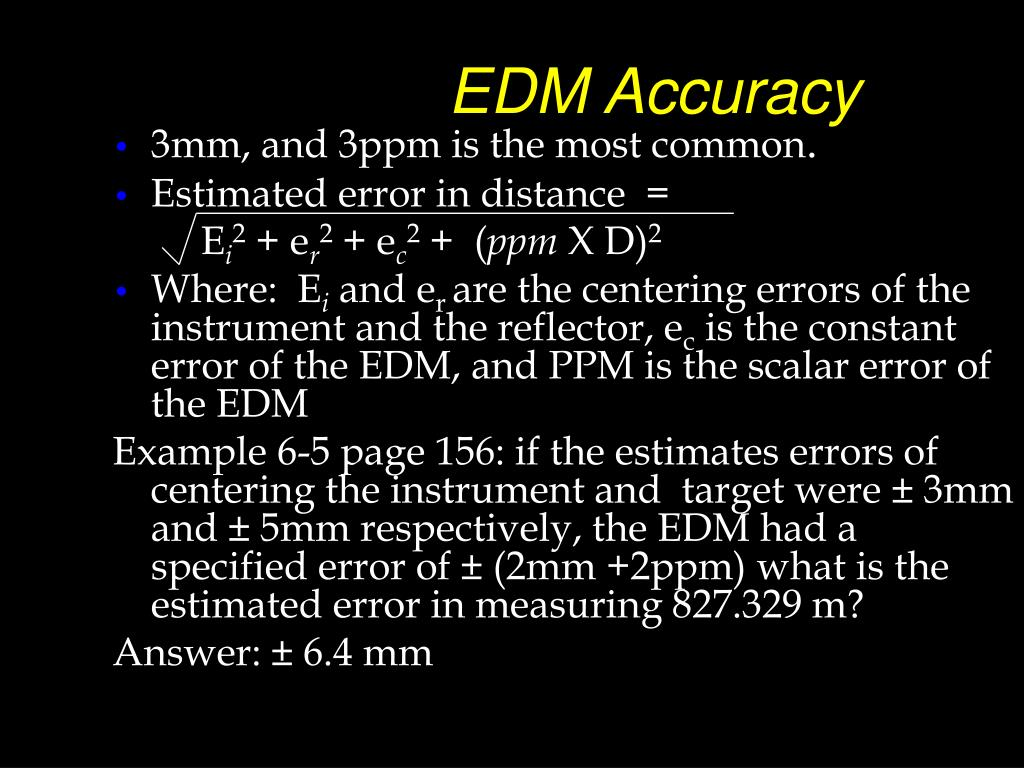 EDM Accuracy