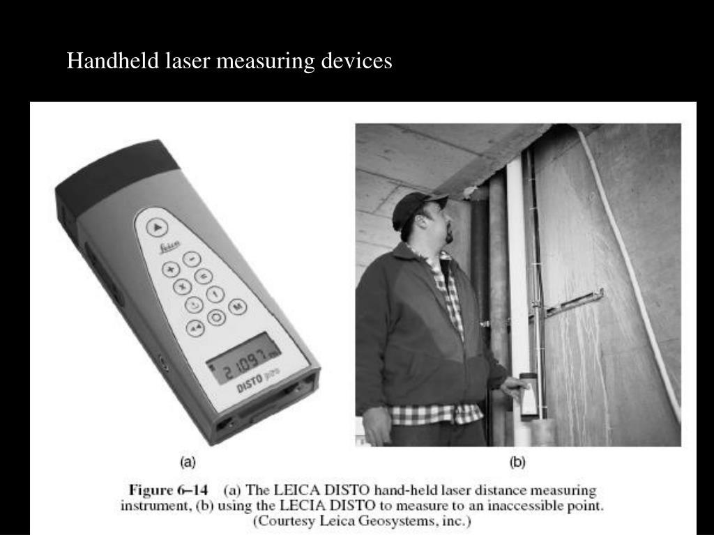 Handheld laser measuring devices