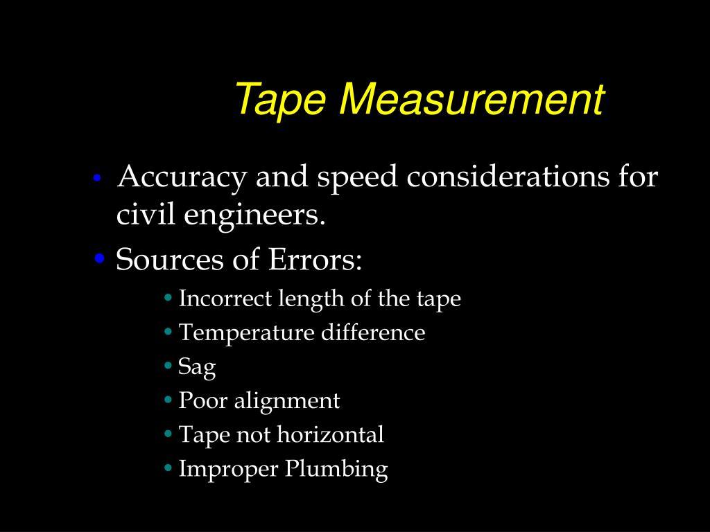 Tape Measurement