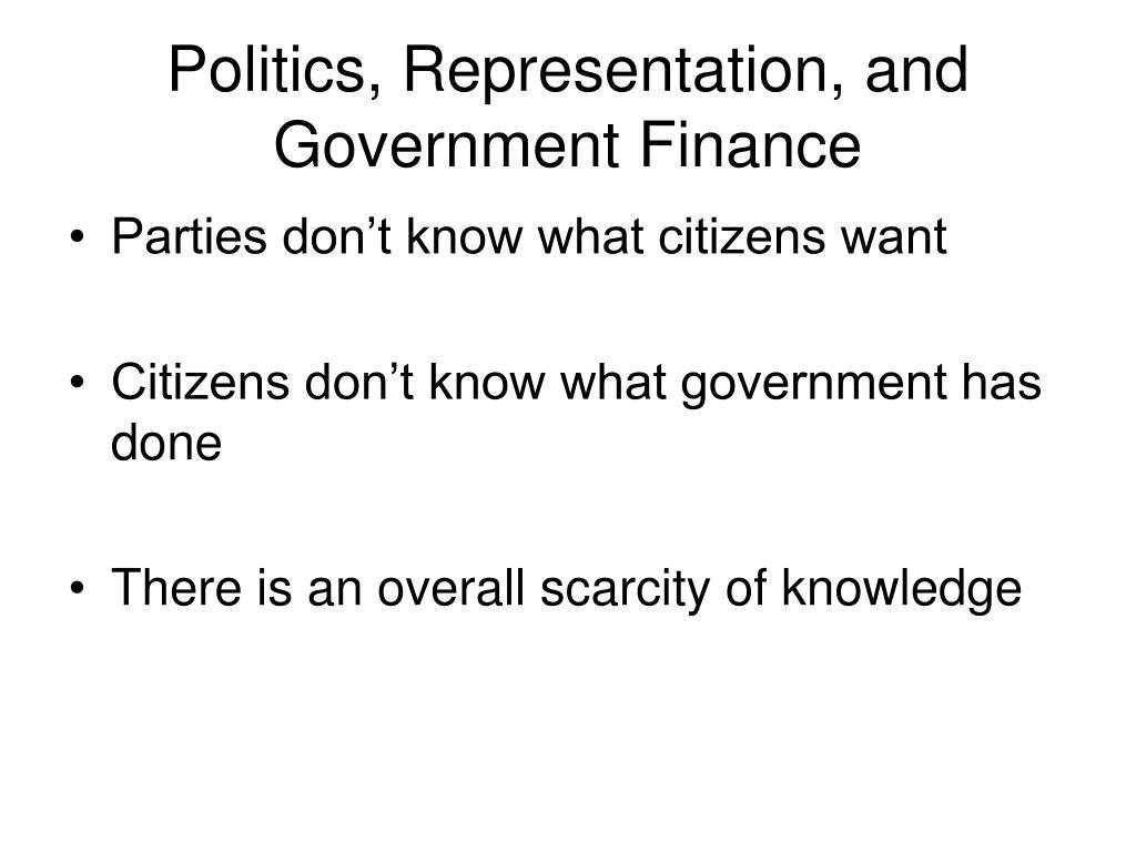government agency representation