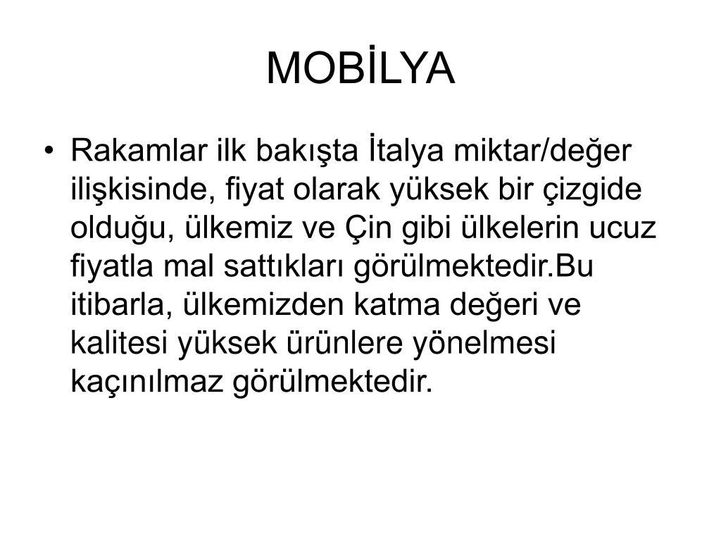 MOBİLYA