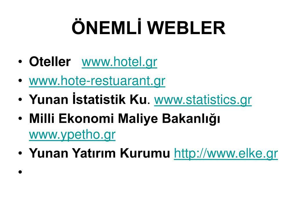 ÖNEMLİ WEBLER
