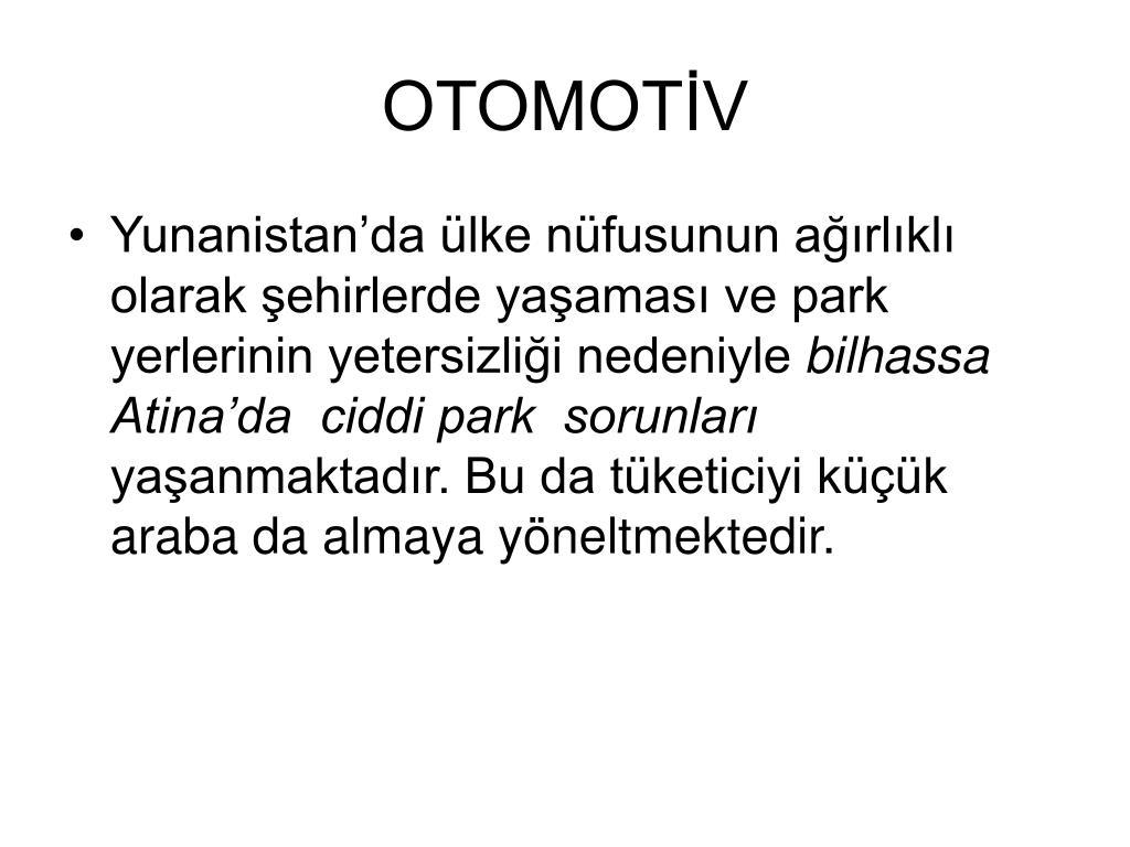 OTOMOTİV