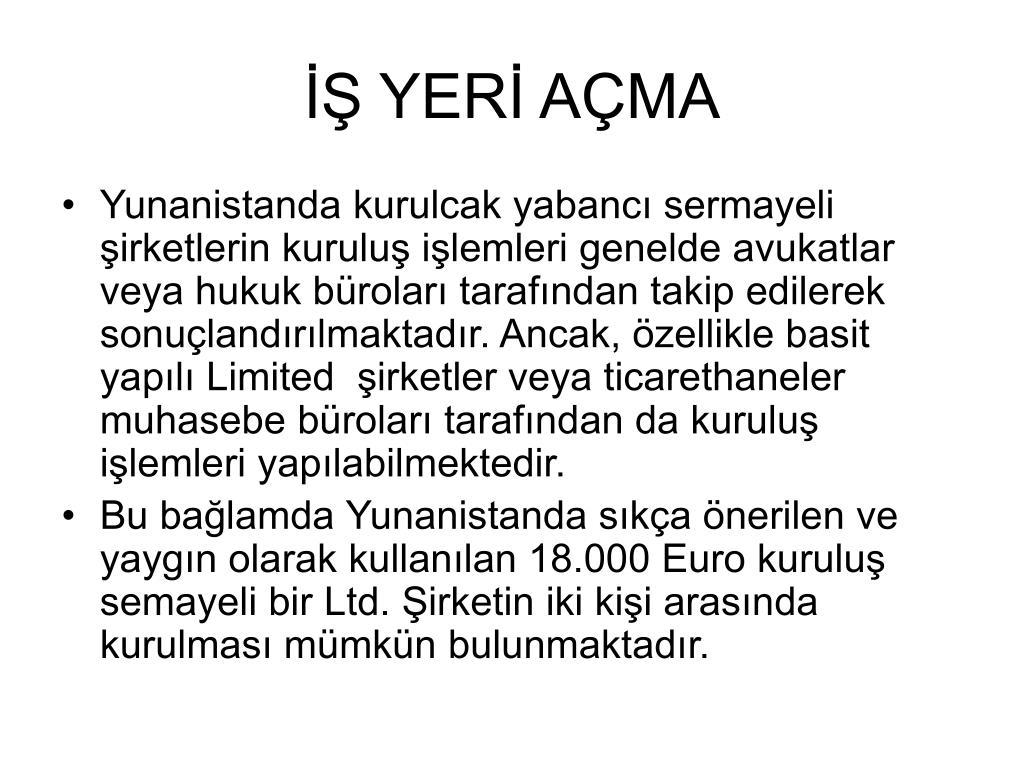 İŞ YERİ AÇMA