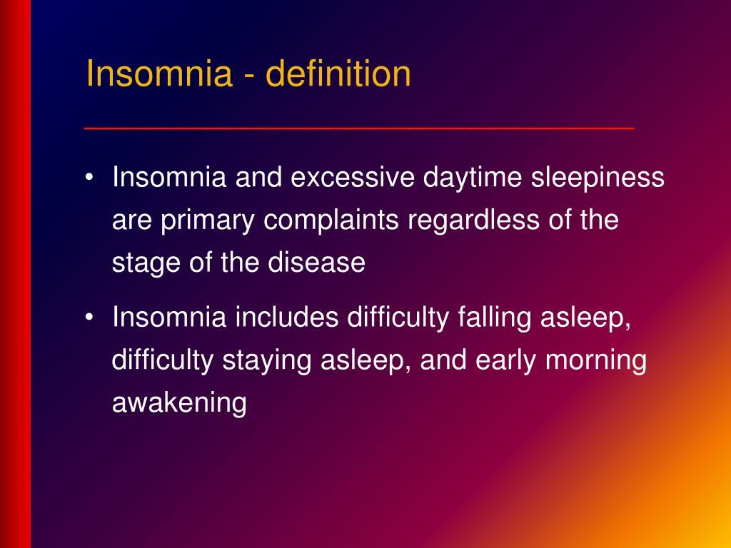 Insomnia - definition