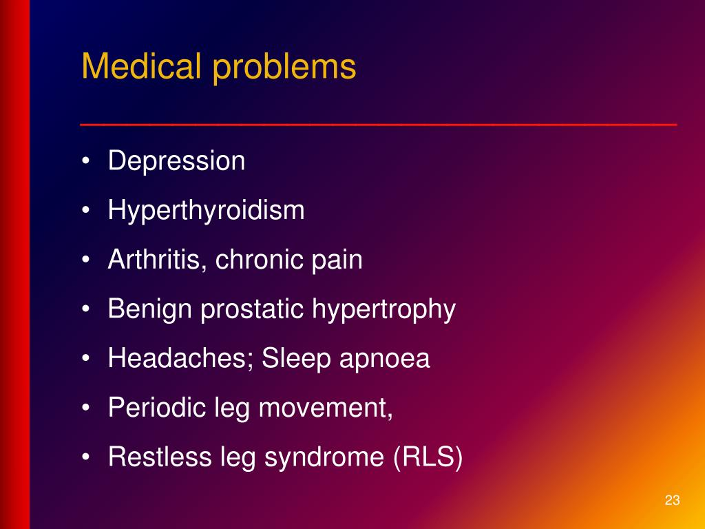 Medical problems