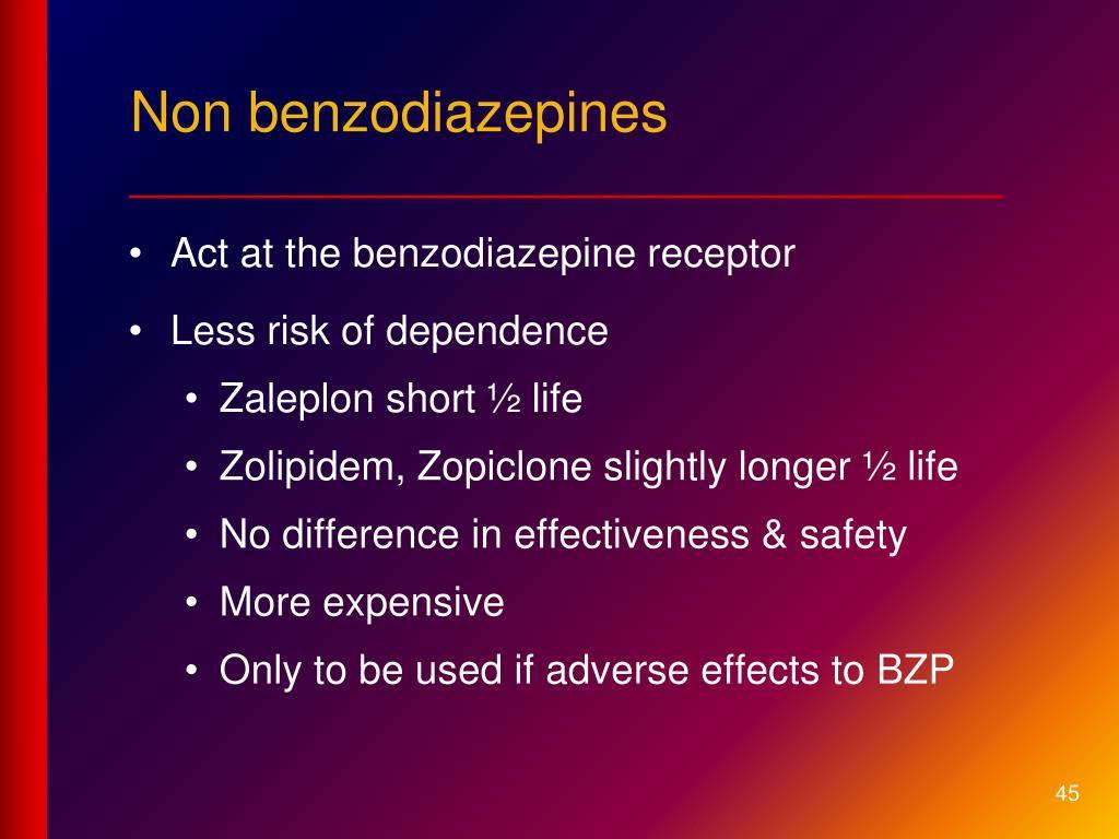 Non benzodiazepines