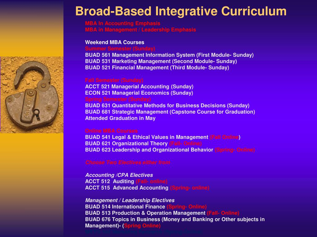 Broad-Based Integrative Curriculum