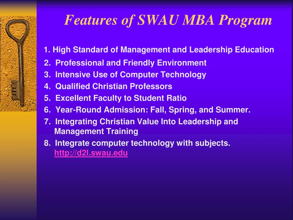 Features of SWAU MBA Program
