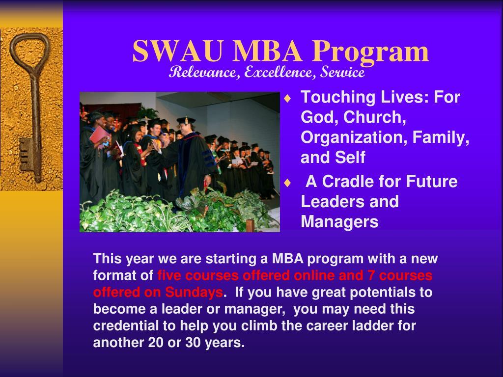 SWAU MBA Program