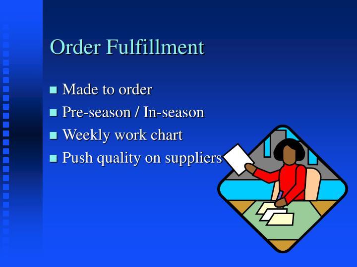 Order Fulfillment