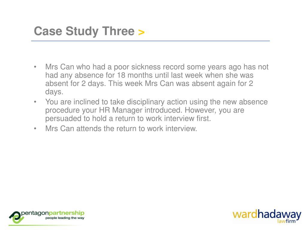 Case Study Three