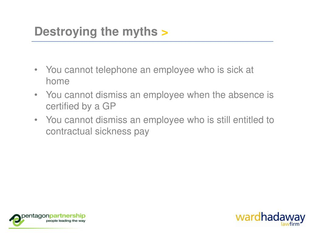 Destroying the myths