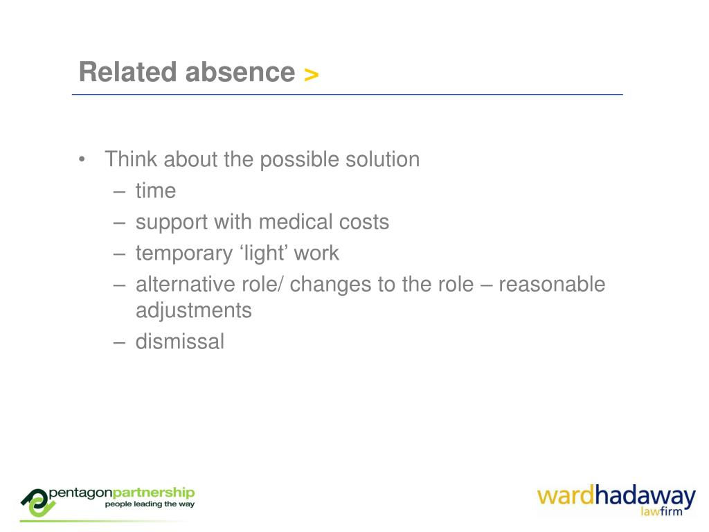 Related absence