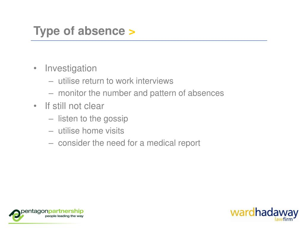 Type of absence
