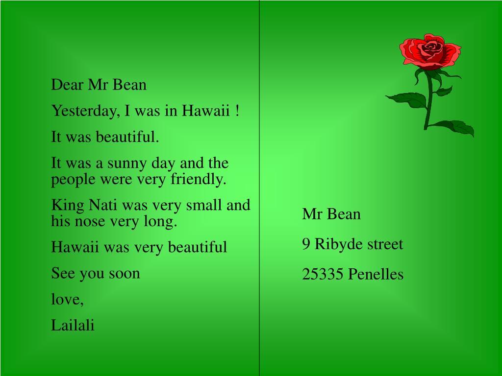 Dear Mr Bean