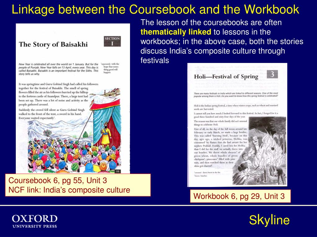 Linkage between the Coursebook and the Workbook